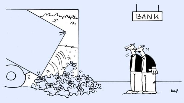 Karikatur / Kai / Rückzahlung