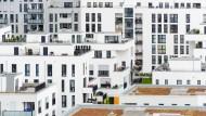 Auch wenn wie hier in München immer mehr Neubauten in Ballungsräumen entstehen - dies genügt noch lang nicht, um die Nachfrage nach Wohnraum zu befriedigen.