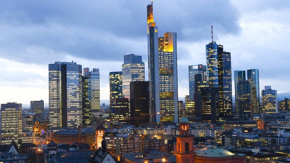 Die Bankentürme der Main-Metropole Frankfurt