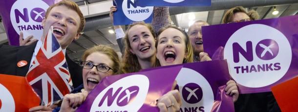 Nicht nur die Märkte sind erleichtert, dass Schottland nicht unabhängig wird.