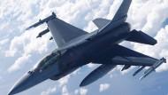 Kampfjet F-16 der amerikanischen Luftwaffe