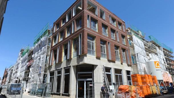 Bauarbeiten in der Stralsunder Altstadt