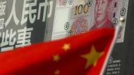 Der neue 100-Yuan-Schein der Chinesen. Das Land kämpf weiter mit Kapitalabfluss.