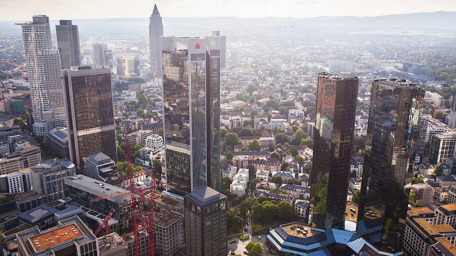 Wird Frankfurt am Main das europäische Finanzzentrum?  – Ansicht von oben