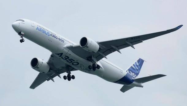 Airbus-Testflug mit Geleitschutz