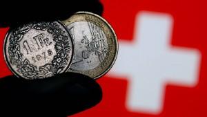 Franken nähert sich Fünf-Jahres-Hoch