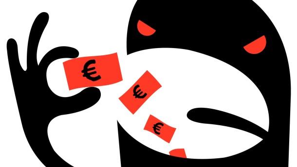 Die Fratze der Eurokrise Illustration