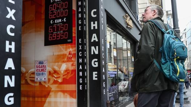 Türkische Lira unter Druck