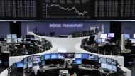 Die Dax-Anzeigetafel an der Frankfurter Börse