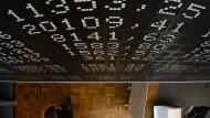 Kurstafel an der Frankfurter Werrtpapierbörse