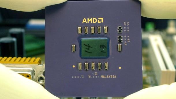 Chipkonzern AMD mit Umsatzrückgang und schmalem Gewinn
