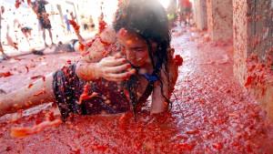 Tomatenschlacht gegen Bezahlung