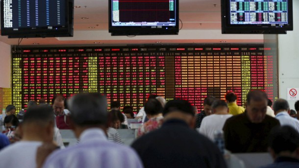 Starker Kurseinbruch in China