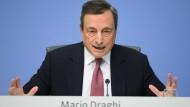 EZB-Präsident Draghi bei einer Pressekonferenz
