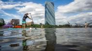 Die Europäische Zentralbank im Frankfurter Ostend