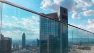 Blick vom Marienturm von Goldman Sachs in Frankfurt
