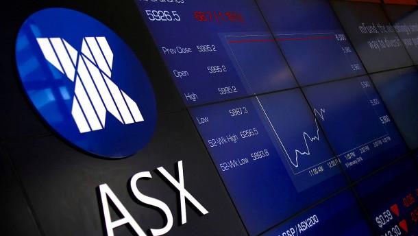 Australiens Aktienmarkt boomt
