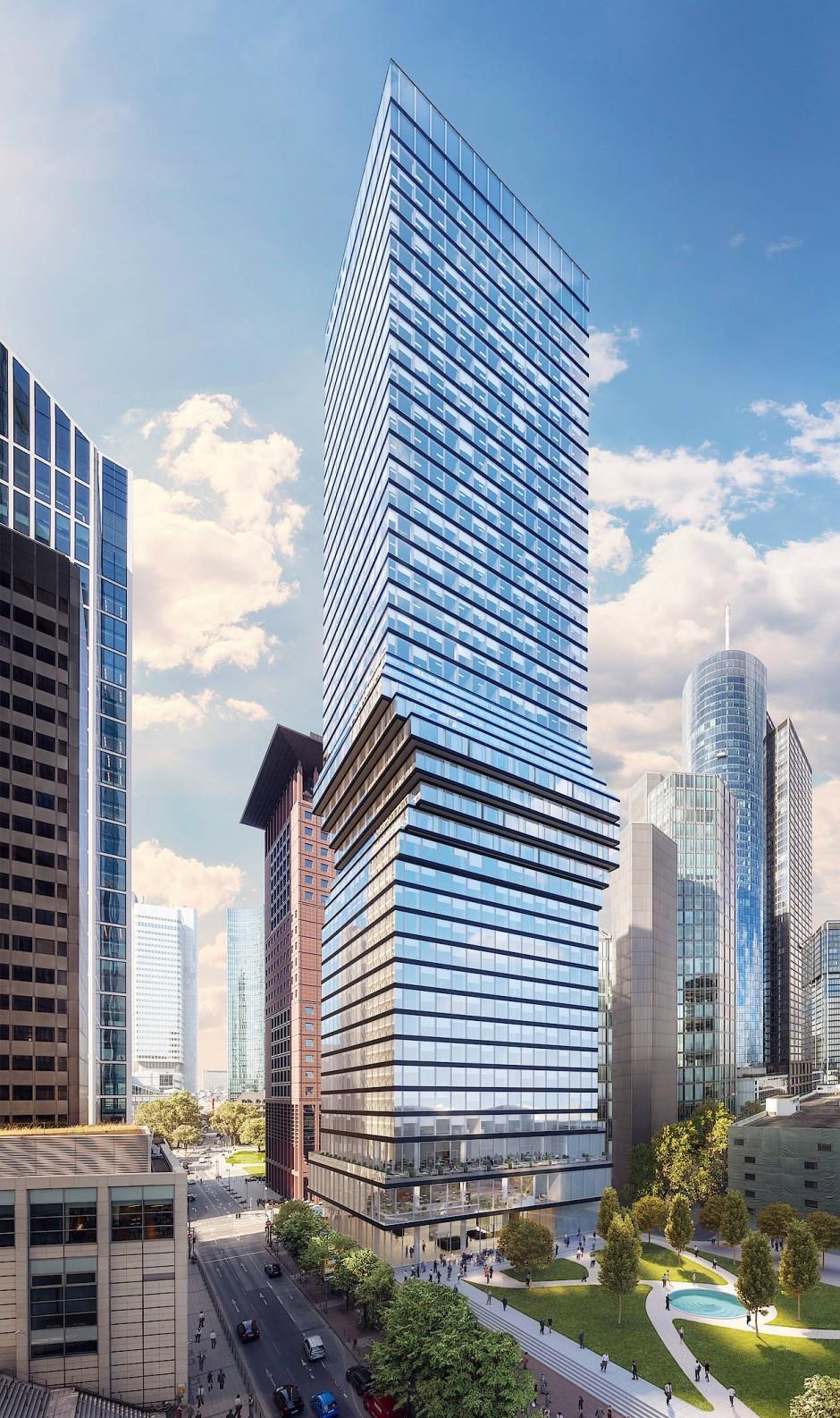 Der Omniturm im Bankenviertel soll Arbeiten, Wohnen und Leben in einem Hochhaus verbinden.