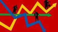 Niemand weiß so recht, wie es weiter geht, deswegen halten viele Investoren ihr Geld zurück.