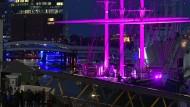 """Zeichen vergangenen Glanzes: Das Museumsschiff """"Rickmer Rickmers"""" im Hamburger Hafen"""