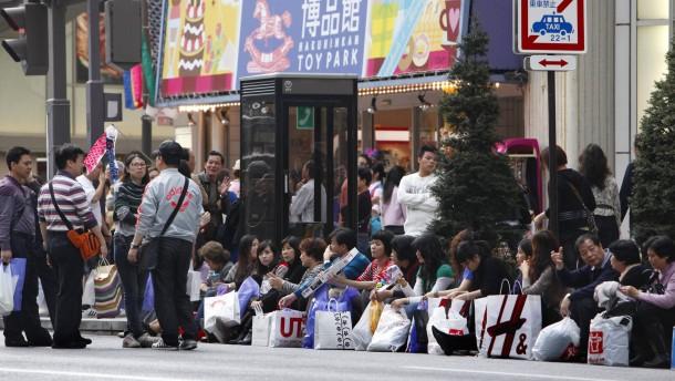 Chinesischer Touristenansturm auf Japan