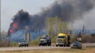 Beim kanadischen Ölort Fort McMurray wüten die Brände.