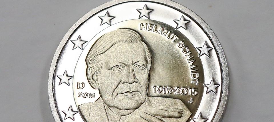 Helmut Schmidt So Sieht Die 2 Euro Gedenkmünze Aus