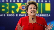 Die brasilianische Präsidentin Dilma Rousseff will ihrem Land Mut machen.