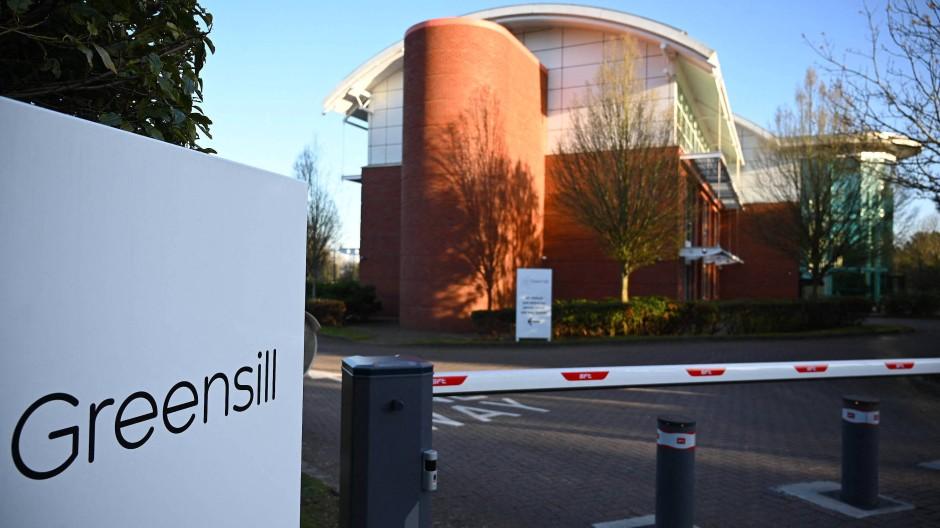 Vor dem britischen Büro von Greensill
