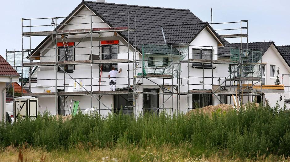 Bauarbeiten an einem Eigenheim
