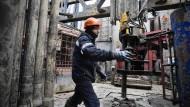 Gasprom-Gasfeld in Bowanenko. Auch die Dividenden sprudeln.
