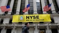 Der Countdown für das Wall-Street-Debüt von Snap, dem Hersteller der Smartphone-Anwendung Snapchat, läuft.