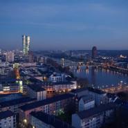 Blick auf den EZB-Neubau im Frankfurter Ostend.