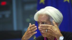 Eine Notenbank im Streitmodus