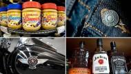 Bekannte Verbraucher-Produkte aus Amerika: Ab Freitag schraubt die EU die Zölle auf sie nach oben.