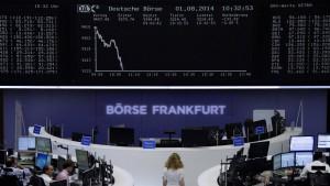 Anhaltender Kursrutsch nach Ausverkauf an Wall Street