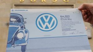 Finanzaufsicht prüft Kursanstieg der Volkswagen-Aktie