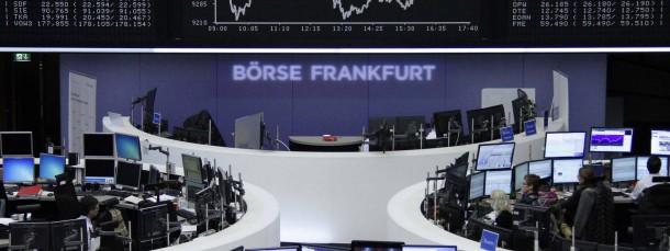 Blick auf die Dax-Tafel an der Frankfurter Wertpapierbörse