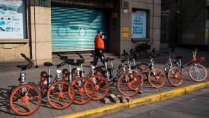 Jetzt sollen Chinas Mieträder die Welt erobern