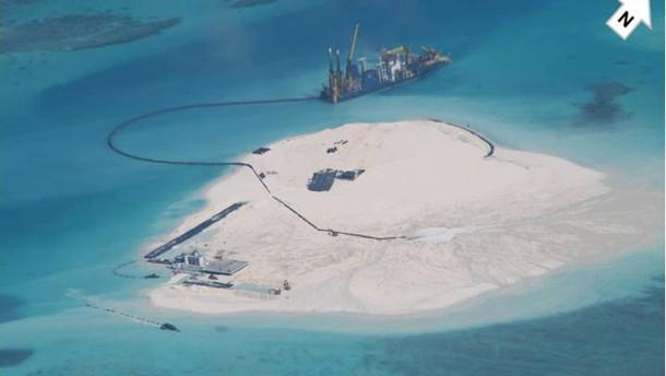 China errichtet künstliche Inseln vor den Philippinen