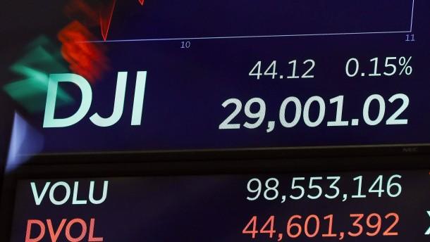 Dow nimmt erstmals Marke von 29.000 Punkten