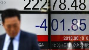 Drohungen zwischen Amerika und China machen Börsen nervös
