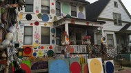 Zwischen Verfall und Aufbruch: In der alten Industriestadt Detroit nutzen Künstler die verfallenen Häuser als Ateliers.
