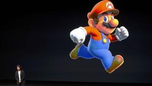 Nintendo beißt in einen Apfel