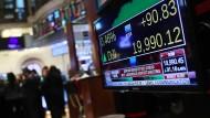 Die historische Bestmarke von 20.000 Punkten ist im Dow Jones nahe.