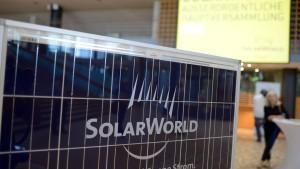 Aktionäre billigen Rettungsplan für Solarworld