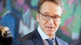 Bundesbank-Präsident Weidmann warnt vor der Inflation