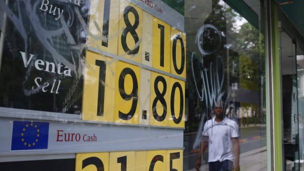 Mexikanischer Peso auf Talfahrt