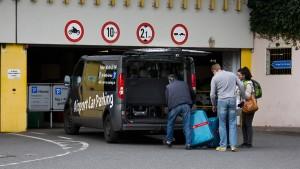 Parken am Terminal kostet bis zu 375 Euro