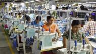Textilfabrik in Gurgaon, Nord-Indien